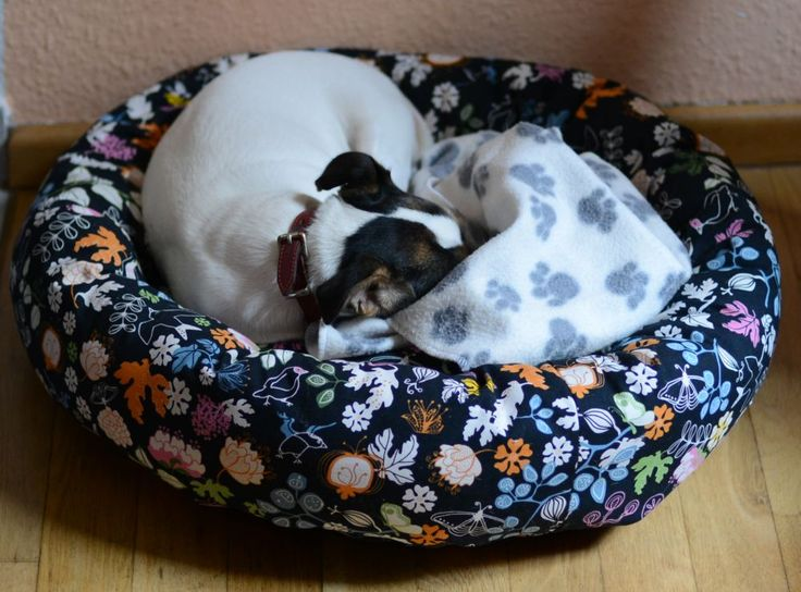 Hundebett10 tutorial for making a round dog bed
