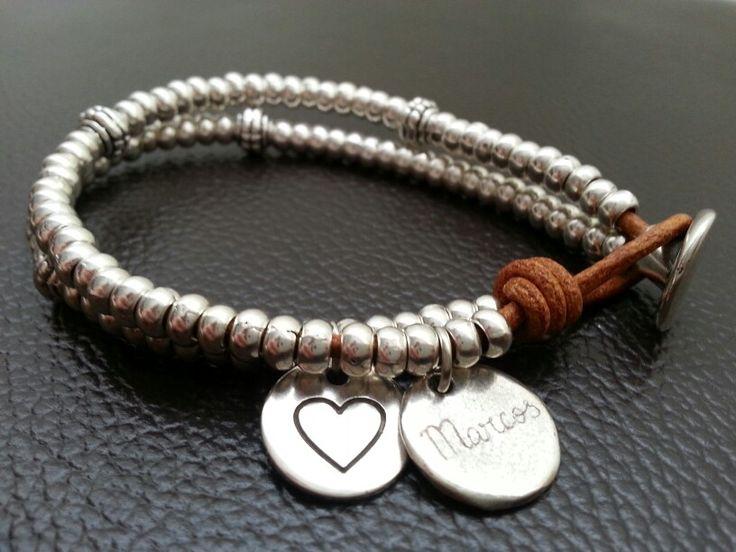 """Pulsera """"love"""" personalizada #pulsera #bisuteria #hechoamano"""