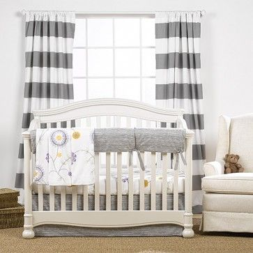 This Simple Gender Neutral Set Is Just What Youve Been Looking For The Gray Fabric On Crib Rail Cover And Skirt Has A Slight But Subtle Driftwood