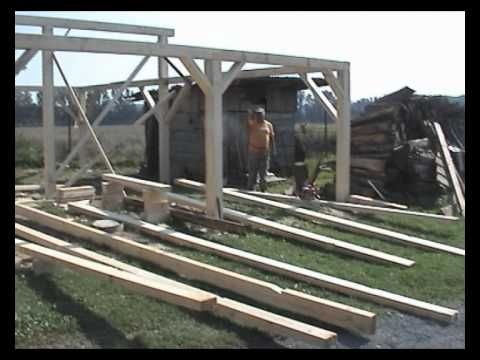 Building the carport and wood shed - 22.08.2010