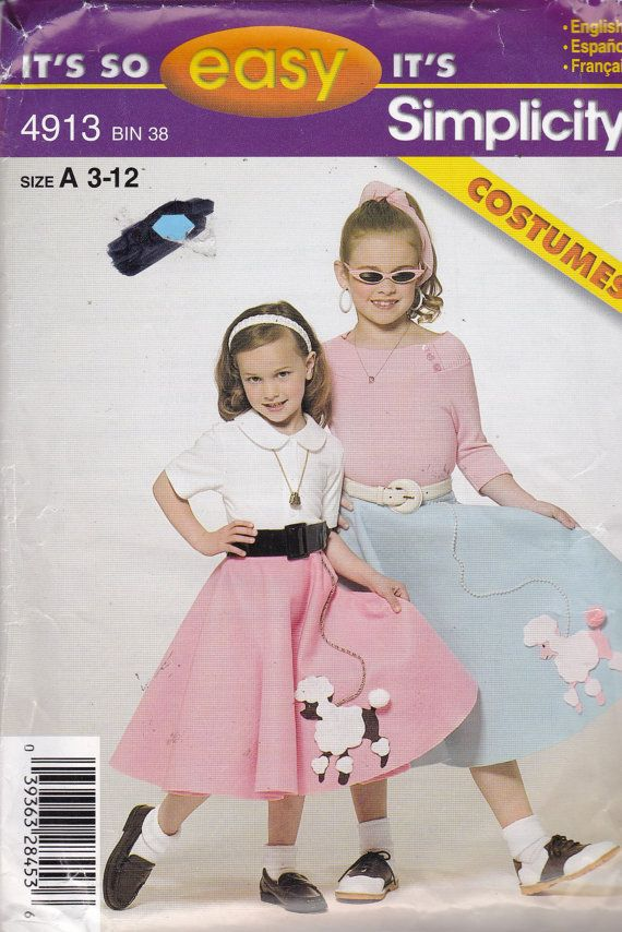 Simplicity 4913 Costume Pattern Girls Poodle By AlwaysFeelingHappy