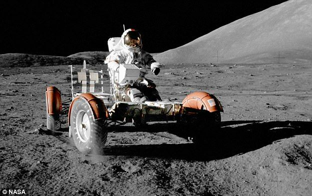 The Lunar Roving Vehicle (LRV) was an electric vehicle designed to operate in the low-grav...