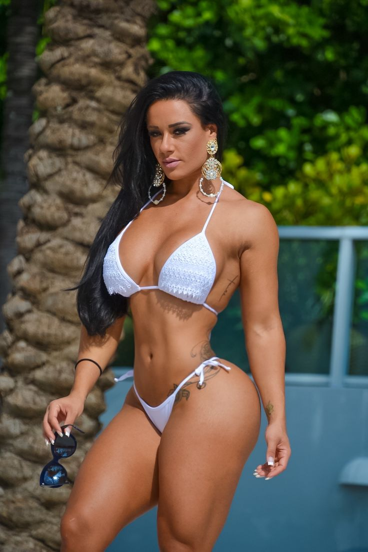 SEXY SMALL WAIST, JUICY LATINA BOOBS & STRONG MUSCULAR THIGHS of tattooed Brazilian WBFF Pro Diva #Fitness Model Sue Lasmar : if you LOVE Health, Workouts & #Fitspo - you'll LOVE the #Motivational designs at CageCult Fashion: http://cagecult.com/mma