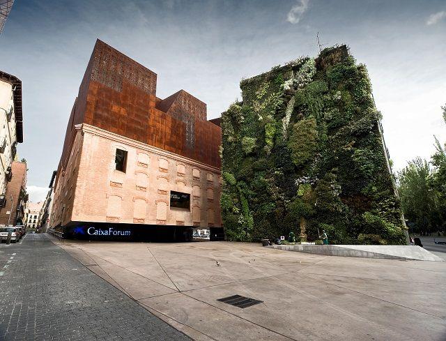 Reina Sofia Museum, Spain. Vertical wall gardens.