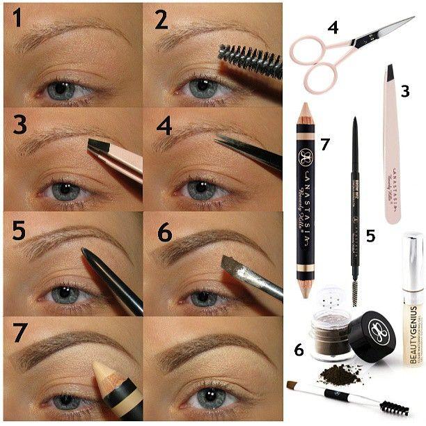 ♥Conceal the area around your brows/eyes - i go 1 or 2 shades lighter than my complexion ♥Comb the brushes with a lash brush (for me that's an brow brush :D) ♥Pluck the single brows growing out of order (i usually just pluck under my brow/browbone - never above) ♥Shorten single brows which are growing too long ♥Line the brows with the Brow Wiz in 'soft brown' ♥Fill the brows with the Brow Genius Kit 'medium brown' ♥Correct & highlight with the Brow Duality
