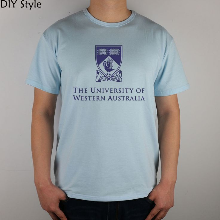 THE UNIVERSITY OF WESTERN AUSTRALIA  T-shirt Top Lycra Cotton Men T shirt