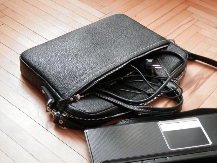 "Leather laptop bag, Handmade laptop case, iPad bag, MacBook bag, Leather laptop sleeve, Leather laptop tote, Leather laptop bag 15"" by Babak1995 on Etsy"