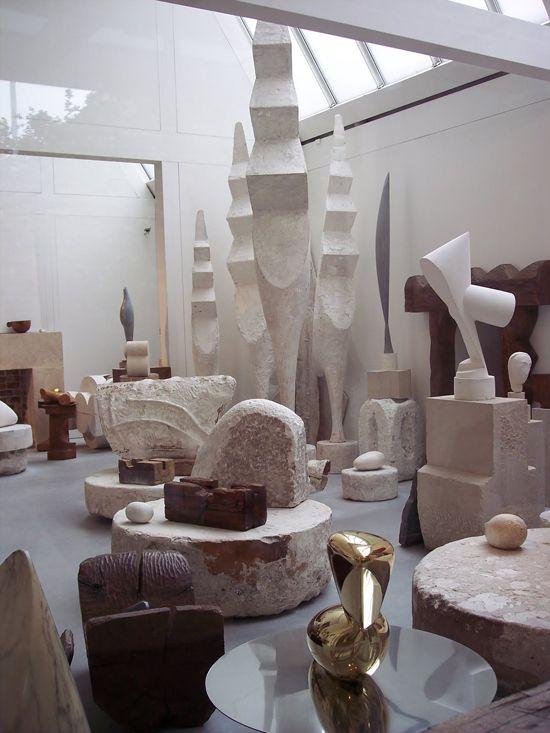 Constantin Brancusi sculptures at Centre Pompidou.
