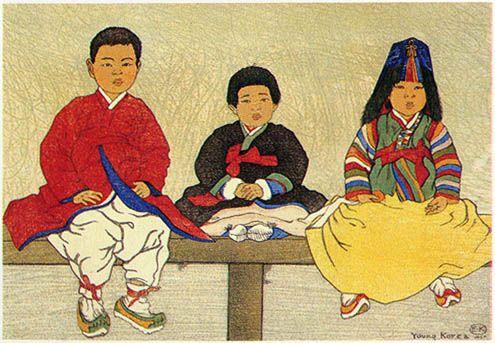 엘리자베스 키스가 펴낸 Old korea (1919)에 실려 있는 그림들이다 .엘리자베스 키스(Elizabeth Keith, 1887-1956). 스코틀랜드 출신의 여류화가. 여러 차례 동양을 방문하여 정감어린 시선으로 이땅의 풍물들을 그렸다.그녀는 한국을 무척 사랑했다고 전해진다. 화풍은 섬세하고 잔잔하다. 평생을 독신으로 지냄.