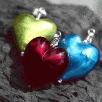 Murano glass pendants - red