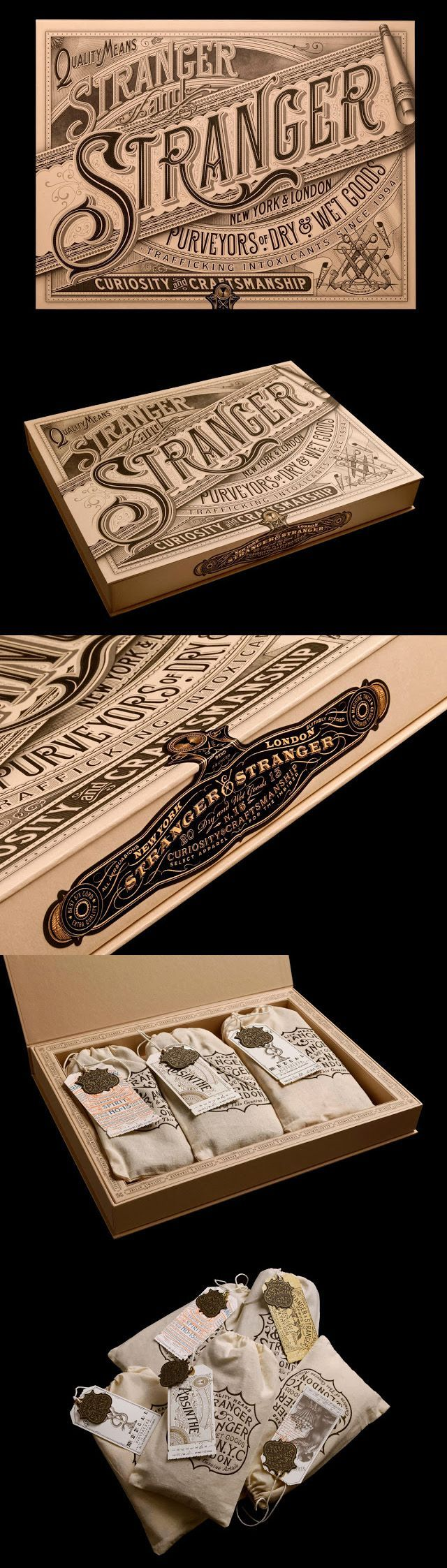 Stranger & Stranger 2013 Christmas Box packaging design