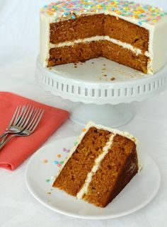 Super Moist Carrot Cake with Cream Cheese Icing - Life Love and Sugar