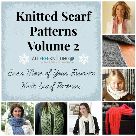 Free knitting eBook from AllFreeKnitting.com: Knitted Scarf Patterns Volume 2