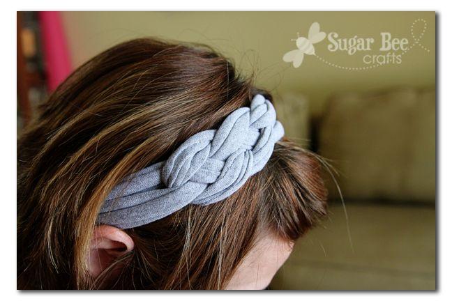 Knotted Headband with tshirt yarn - Sugar Bee Crafts