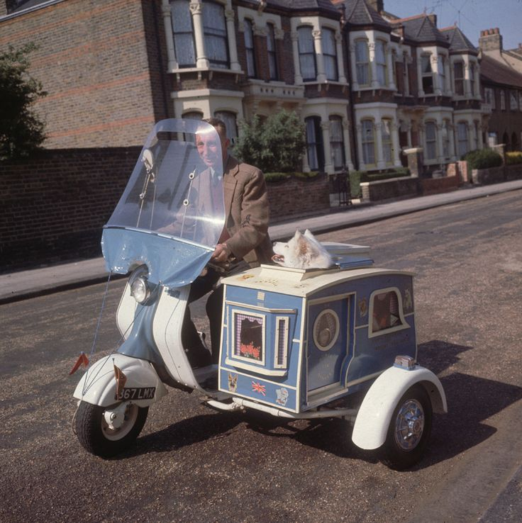Sometimes I post stuff to make a point or get a rise or a belly laugh. And then sometimes I post stuff just because it makes me extraordinarily happy.  This is that.  Mr. Charles Tumbridge rides his scooter through the streets of London, with his beloved dog, Susie, in the sidecar, 1962.  THAT'S A LITTLE BABY!