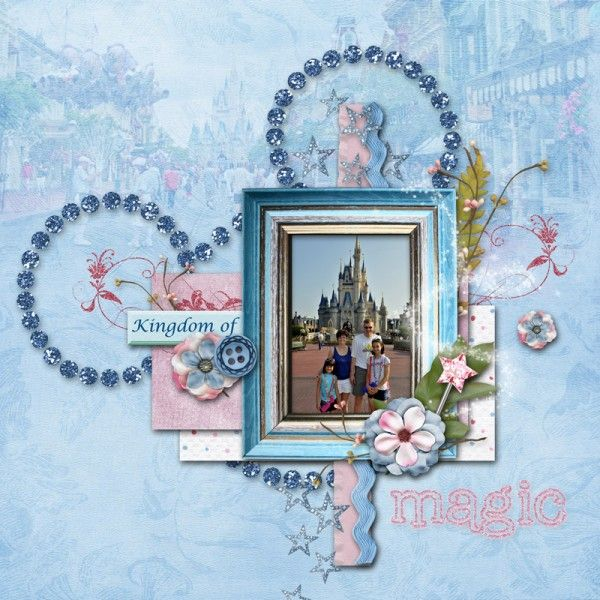 #papercraft #scrapbook #layout. Cinderella's Castle - Page ...
