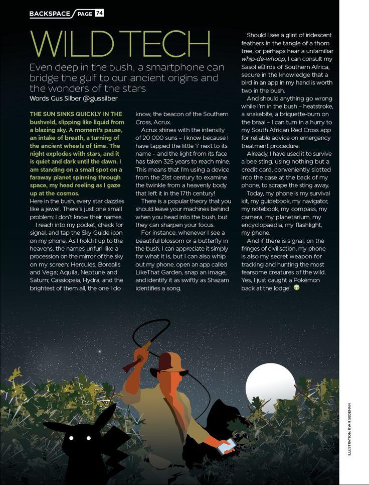 Tech magazine illustration