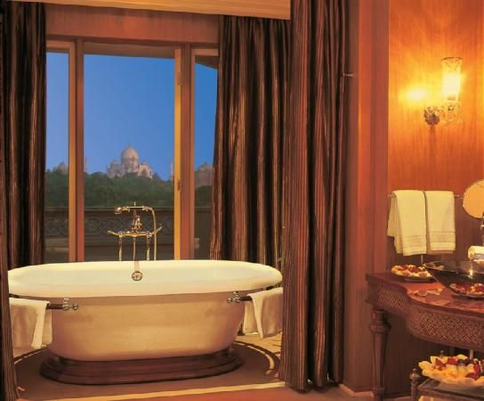 Oberoi Amarvilas      Agra, India  The view of the Taj Mahal from the room was soooo romantic...