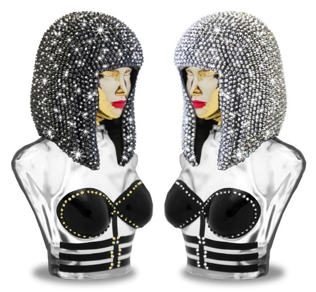 Nicki Minaj releases two limited edition bottles of her perfume Onika, covered in Swarovski crystals - October 2014