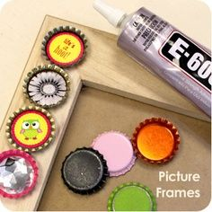 Bottle Cap Crafts Picture Frame
