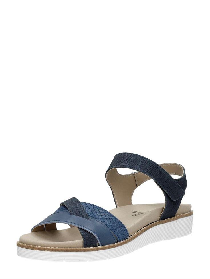 Choizz comfortabele dames sandalen van nubuck en glad leer - blauw