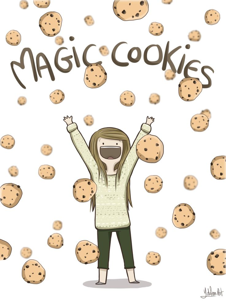 """ydolem-art: """"-If you could only eat one food for the rest of your life, what would it be ? -… MAGIC COOKIES"""" -the cutest human being in the world, Elise Bauman."""