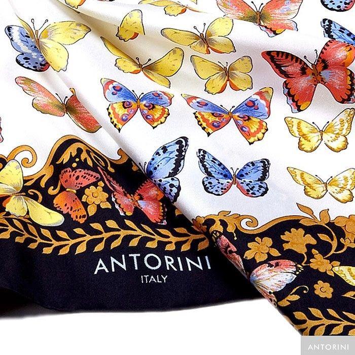 "108 To se mi líbí, 10 komentářů – ANTORINI (@antorini_official) na Instagramu: ""ANTORINI Butterflies Scarf in Black, www.antorini.com Handmade in Italy with the use of 100%…"""
