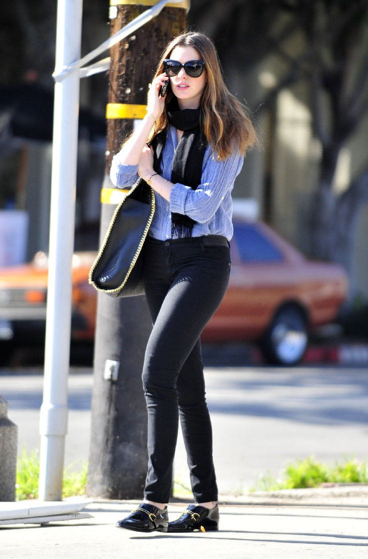 anne hathaway casual style - photo #21