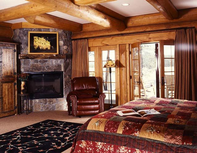 Log home bedrooms secluded log cabin photos mountain state log homes - Log cabin bedrooms ...
