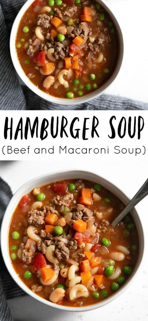 Hamburger Soup Recipe Beef And Macaroni Soup The Forked Spoon Recipe Hamburger Soup Best Soup Recipes Soup Recipes