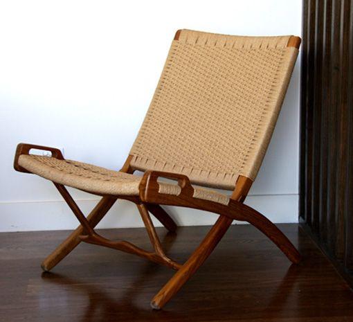 GLC60 Roxy Folding Chair teak -cord