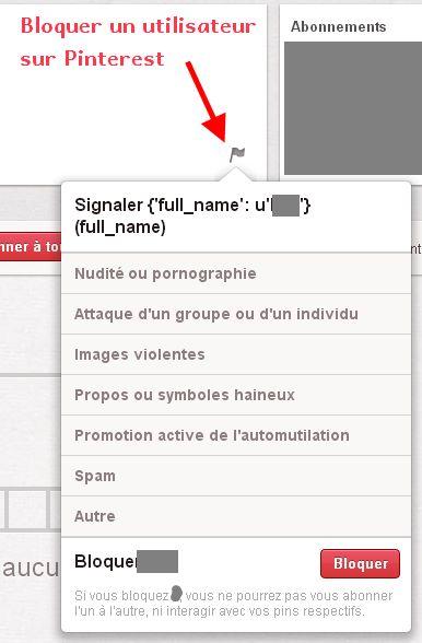 Comment bloquer un utilisateur sur #Pinterest ► Lire la suite la suite de l'article sur http://tomatejoyeuse.blogspot.com/2012/11/bloquer-un-utilisateur-sur-pinterest.html