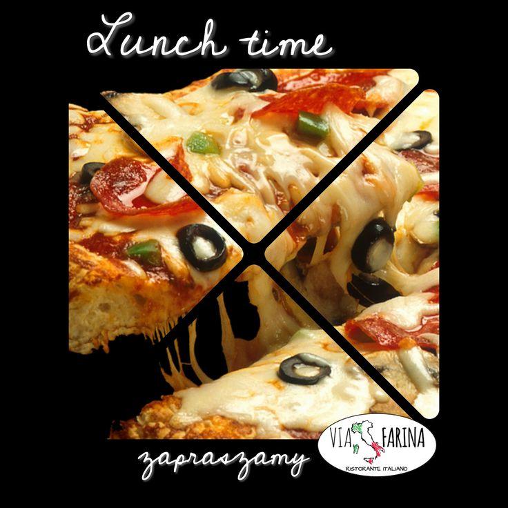 ☛ LUNCH TIME ☚  Macie ochotę na pyszną, włoską pizze? :)  ☛ Wszystkie smakowite dania, znajdziecie oczywiście w naszej karcie ☛ http://www.viafarina.pl/o-nas/ ✪  ✪ Zapraszamy ✪  #restauracjawłoska #Niepołomice #Kraków #Wieliczka #Pizza #Italia #menu #Obiad #lunch #kręgle #pysznejedzenie #zaproszenie #nawynos #dostawa #ViaFarina #restauracja