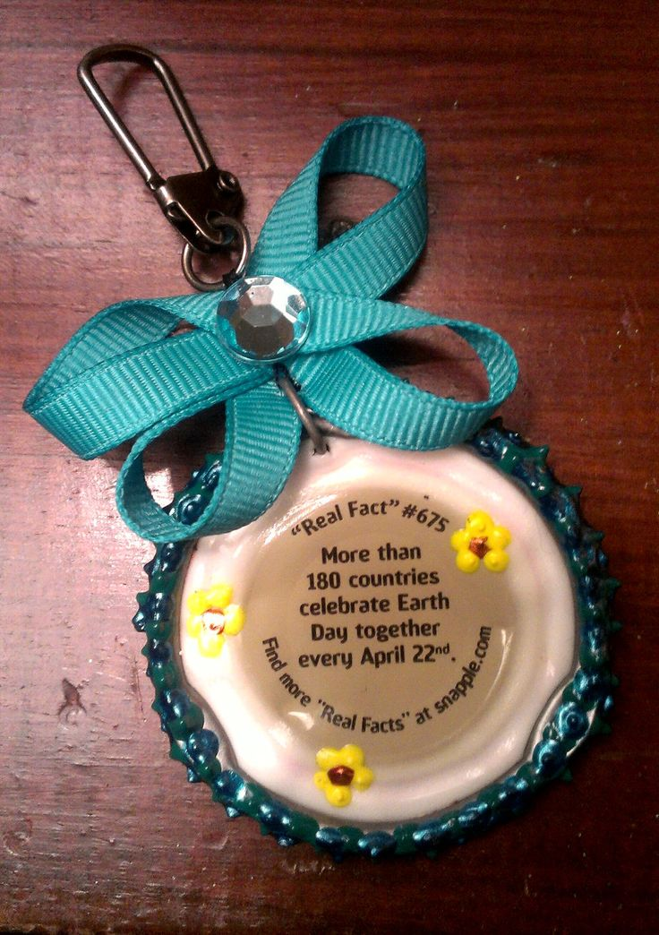 Snapple Cap Keychain by MyChunky on Etsy, $10.00