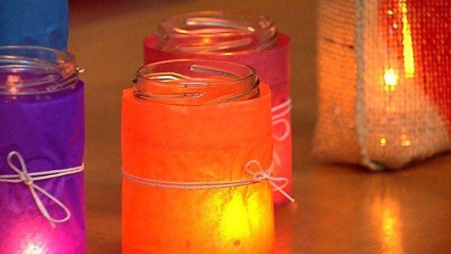 Veja como fazer luminárias e lamparinas coloridas - Oficina da Thalita - GNT