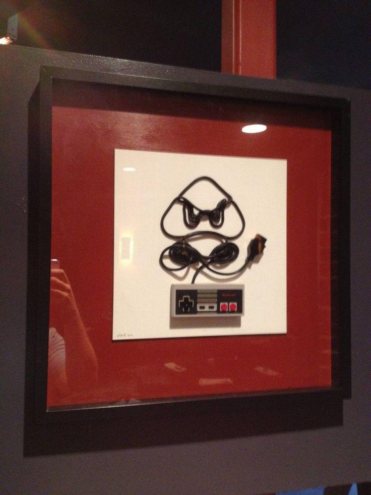 Video game controller art #Mario #Nintendo  So cute!