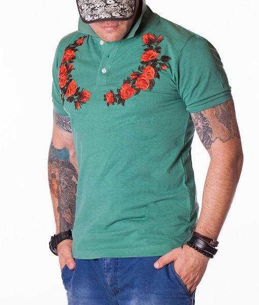 Gucci Tricouri Polo - Wreath tricou polo verde