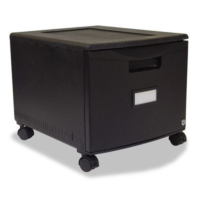 Single Drawer Mini File Cabinet with Lock and Casters Legal/Letter   Wayfair