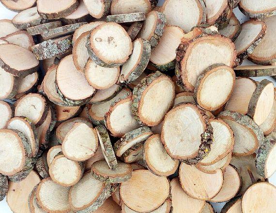 SALE piccole albero fette dischi cerchi legno ramo albero