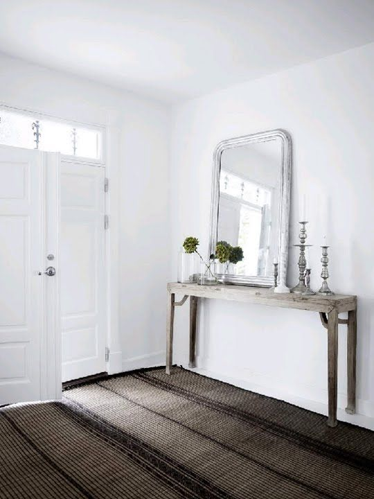 Always wanted an entrance table with rustic mirror.
