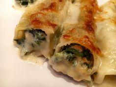 Spinat Räucherlachs Cannelloni Lachs; Pasta; Spinat; überbacken; Gratin; Cannelloni; Nudeln