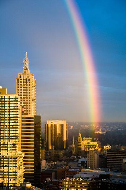 Rainbow over Melbourne, Australia
