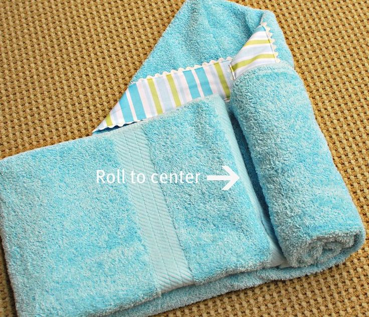 How To Fold A Hooded Towel Gift Ideas Pinterest New