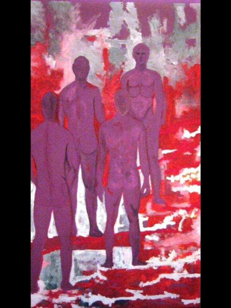 Gods, acrylic on canvas