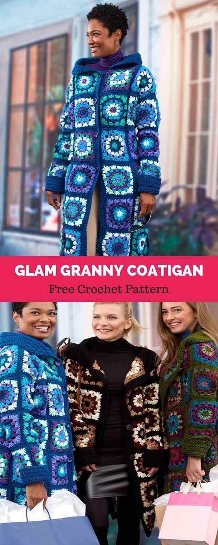 Glam Granny Coatigan Free Crochet Pattern Crochet Crochet