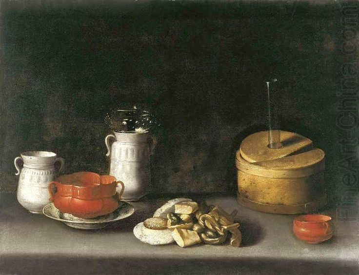 Juan van der Hamen y Leon (1596-1631) Still Life with Porcelain and Sweets Private collection