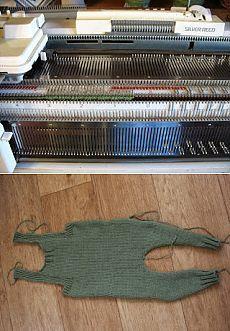Черепашьи бега: МК вязание двух штанин на машине.
