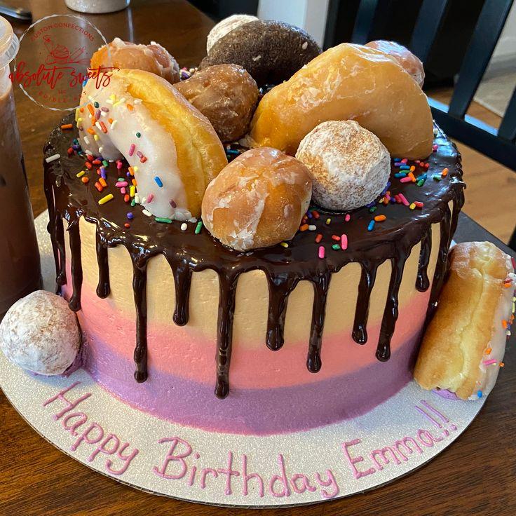 Dunkin donuts birthday cake donut birthday cake cake