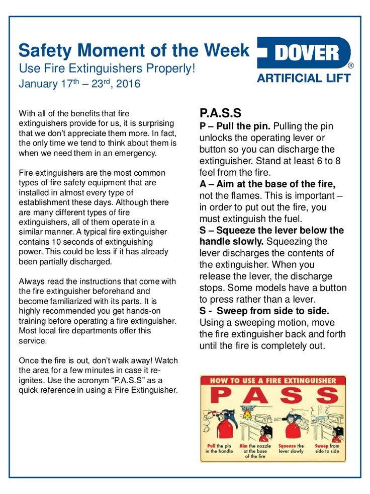 Dover ALS Safety Moment of the Week 17Jan2016