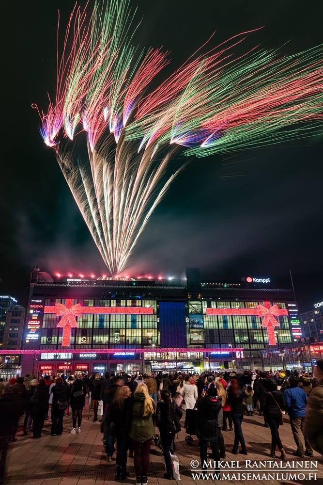 Opening of Christmas season in Kamppi Shopping Center yesterday Helsinki, Finland (28.11.2015)